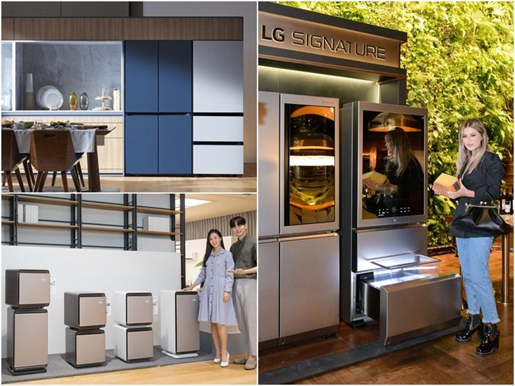 플렉스 해버리는 소비자는 전자업계에도 영향을 미치고 있다. 사진 왼쪽 상단부터 시계방향으로 삼성 비스포크 냉장고, LG 시그니처, 삼성 무풍 큐브. /삼성전자 LG전자